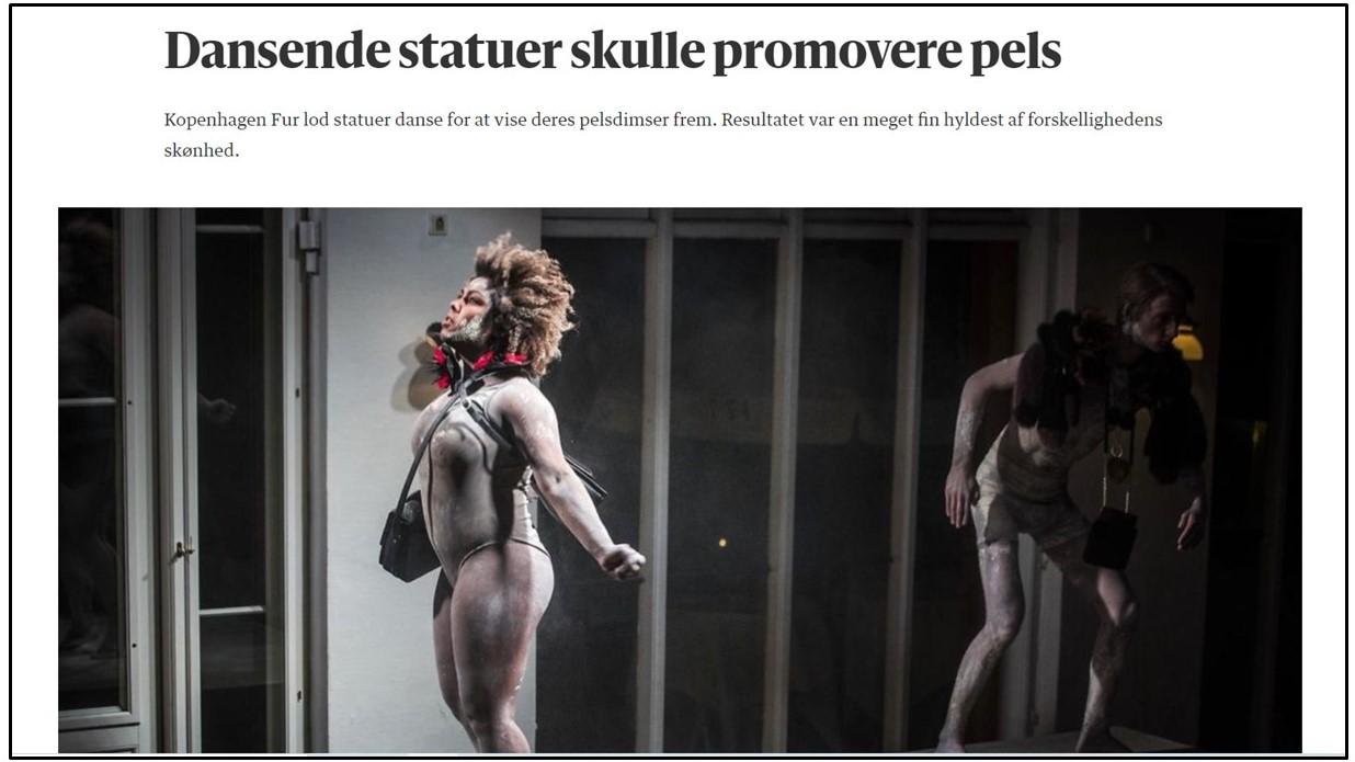 Berlingske artikel om modeshow