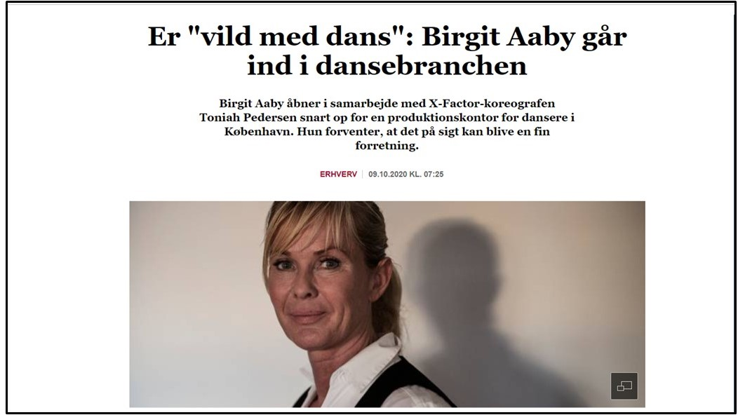Finans artikel om Birgit Aaby og Toniah