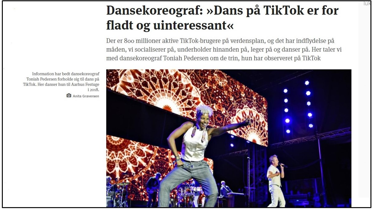 Information artikel om Tik Tok